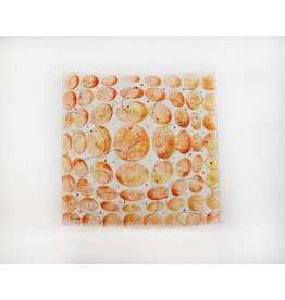 Artisanal Orange Glass Matzah Plate