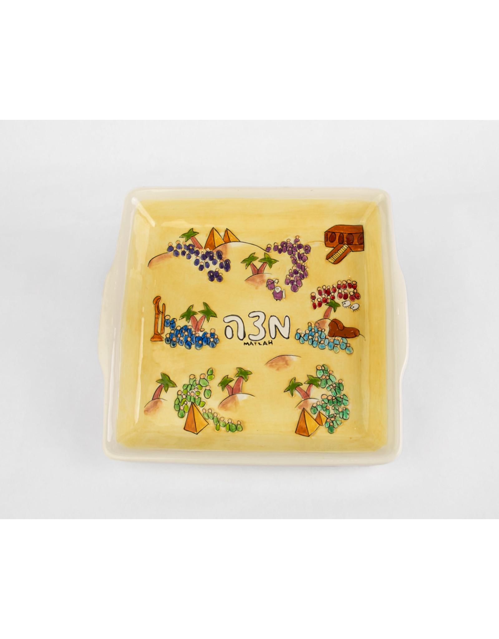 Hand Painted Matzah Plate