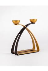 Candlesticks  modern Black/Gold