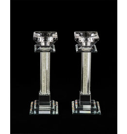 Candlestick Holder Crystal Set