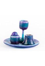 Havdalla Set Columbian Blue Resin
