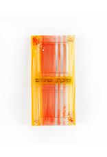 Orange Glass Tray Shabbat