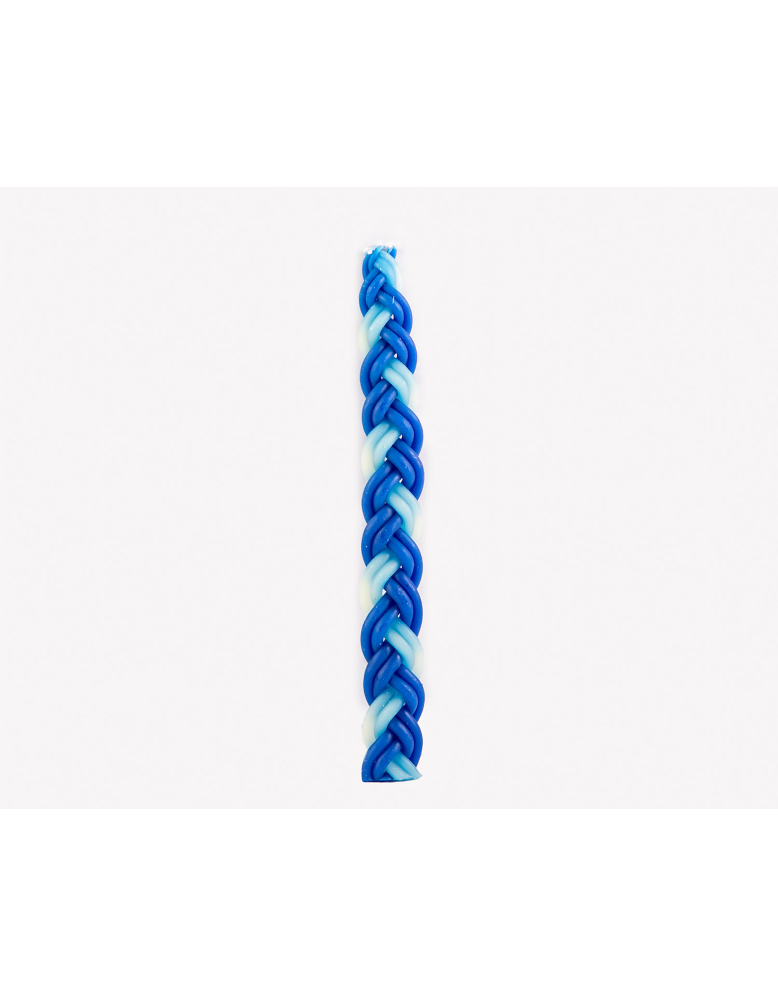 Candles Havdala Blue&W Braid