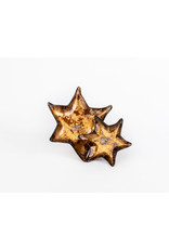 Gold Glass Star of David Dish Set