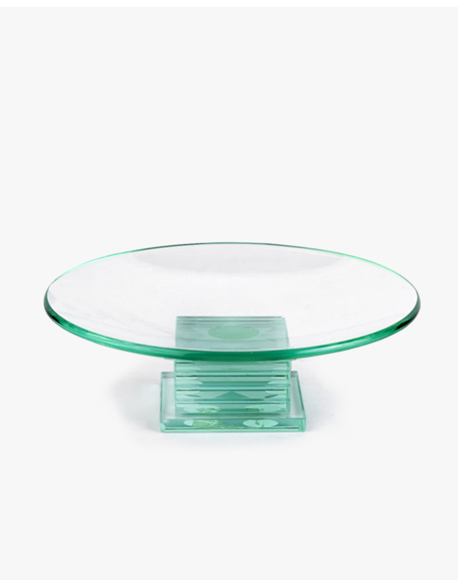 Plate Glass footed w/star