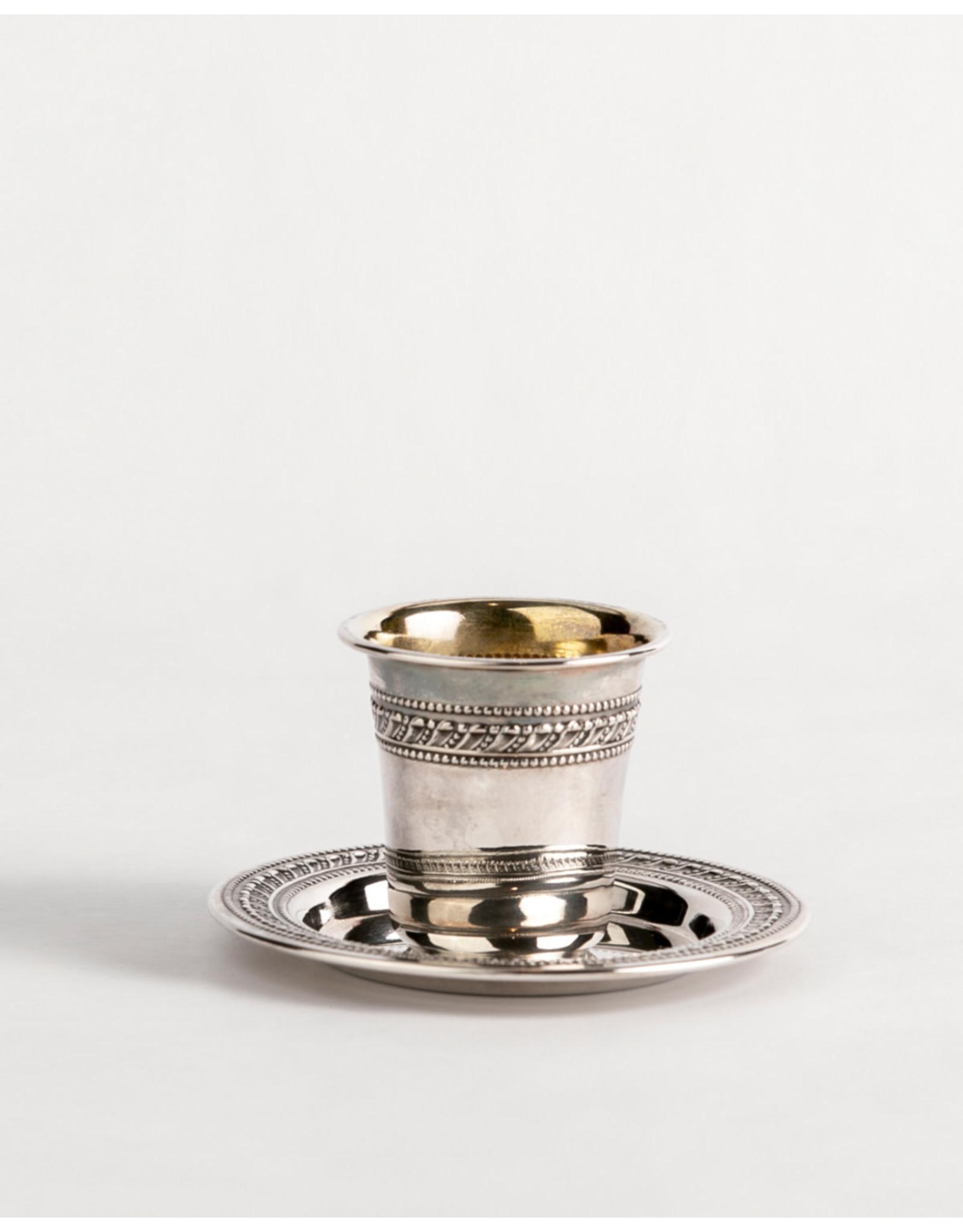 Kiddush Cup W/Tray Mitz