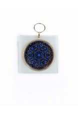 Wall Hanging Home Blessing/Gold w/Blue Stones