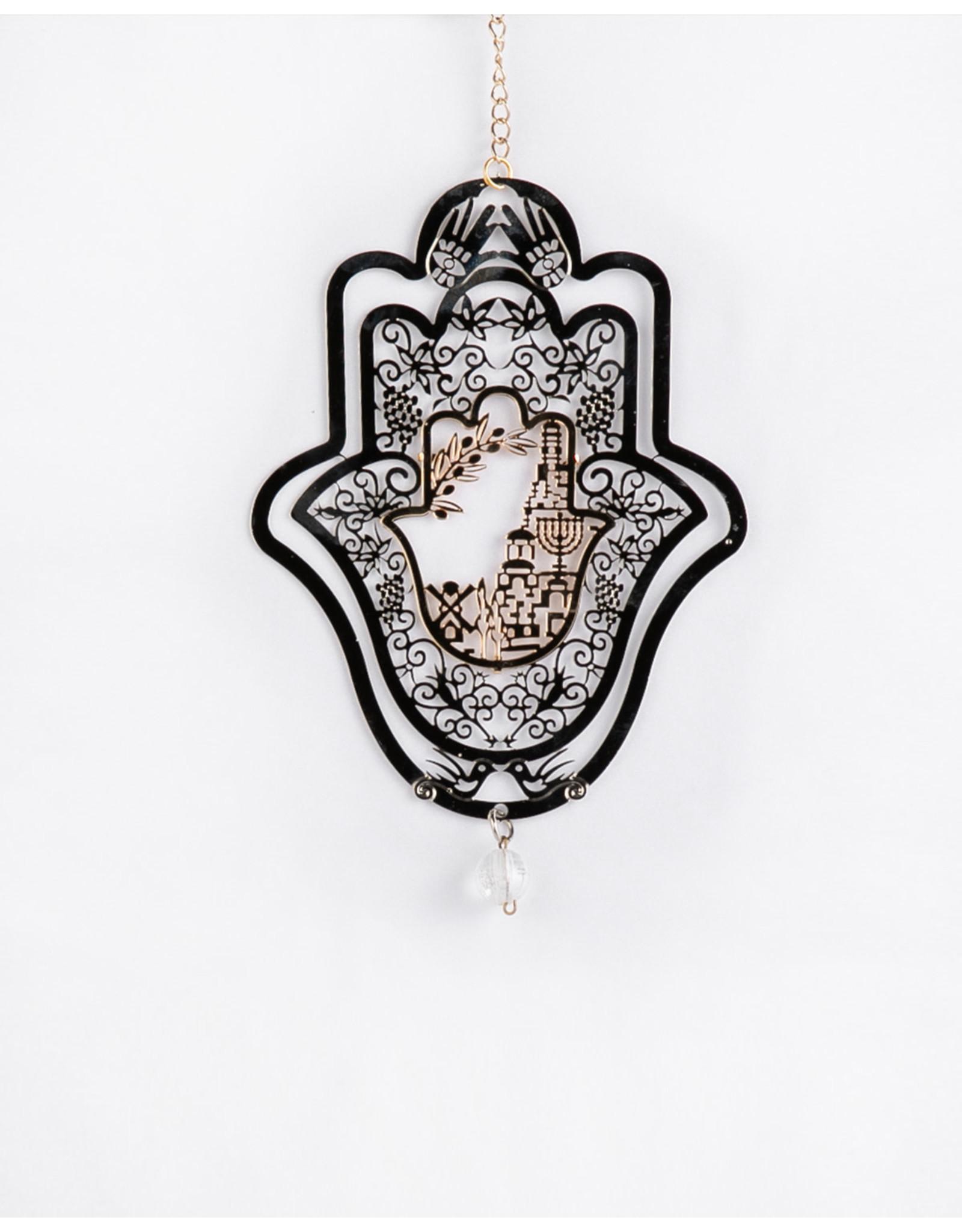 Hamsa Gold and Silver Filagree