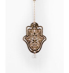 Wall Hanging Hamsa Gold Filagree Sm
