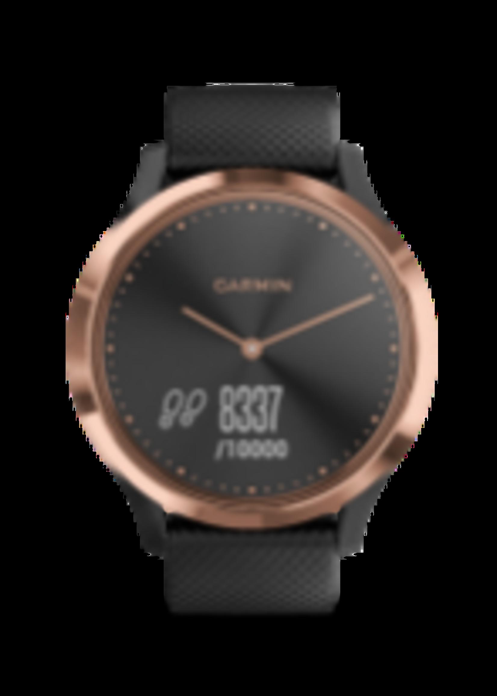 Garmin GARMIN VIVOMOVE HR SPORT, BLACK-ROSE GOLD S/M