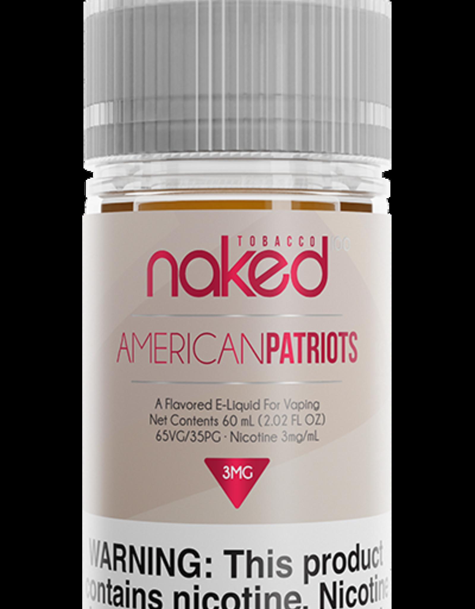 Naked 100 American Patriots