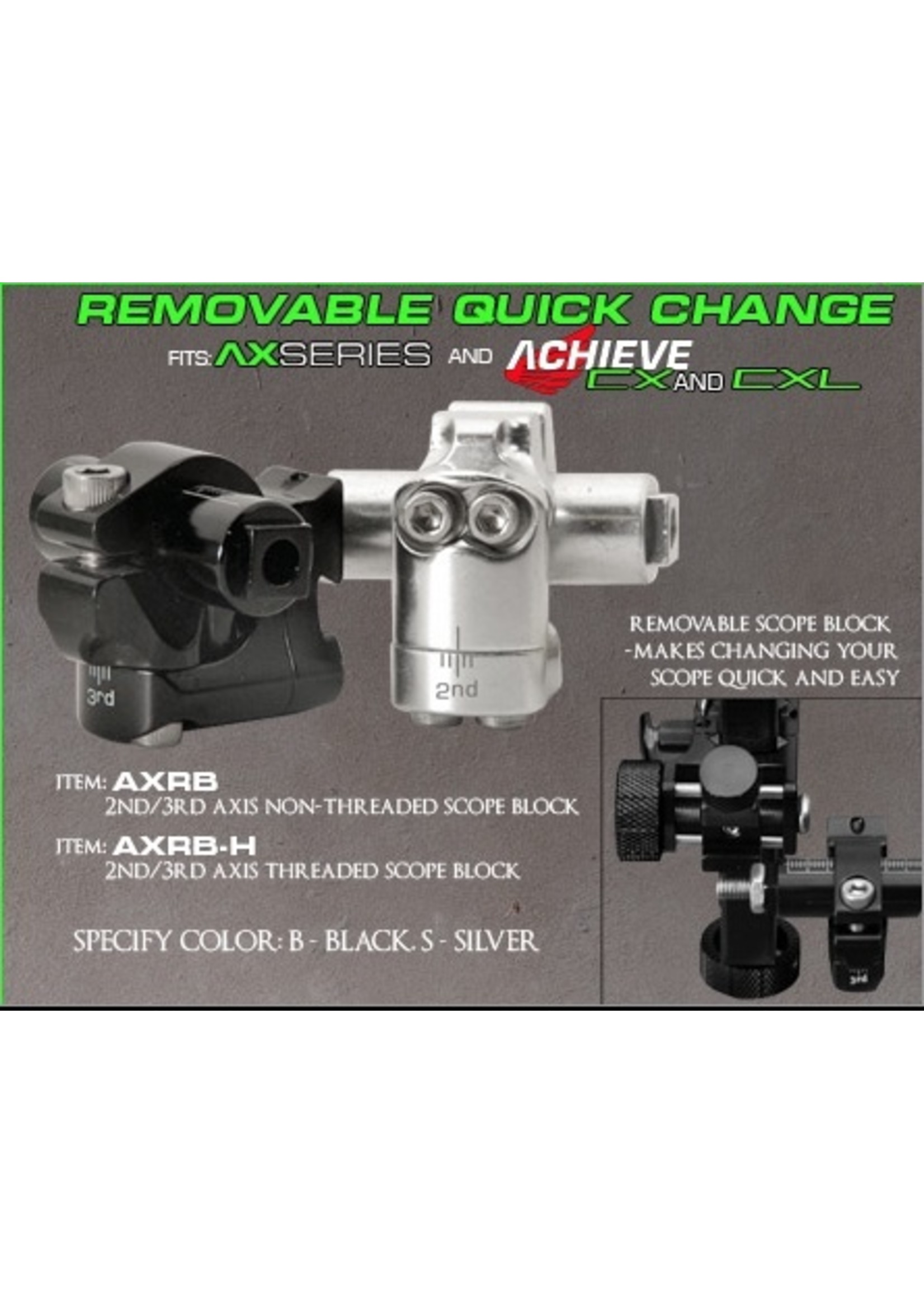 AXCEL SIGHTS Axcel Removable 2nd/3rd Axis Block