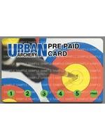 Urban Archery UA Indoor PrePaid Card