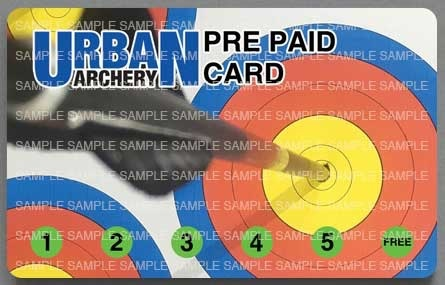 Urban Archery UA Indoor PrePaid Card