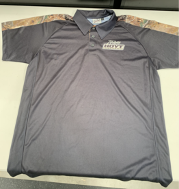HOYT QUICK DRY POLO BLACK LARGE