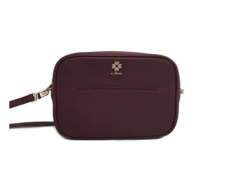 A.doree Elodie Leather Crossbody Bag -Burgandy
