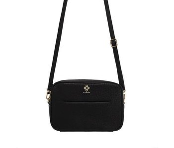 A.doree Elodie Leather Crossbody Bag -Black