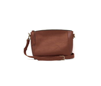 Able Cecilia Zip Crossbody -Whiskey