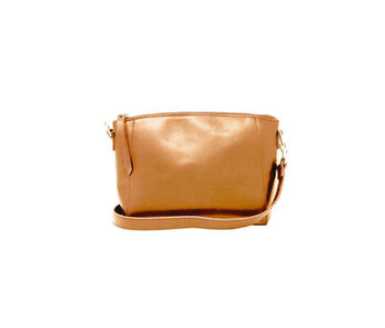 Able Cecilia Zip Crossbody -Cognac