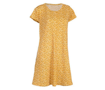 Arianna Yellow Floral Cap sleeve dress