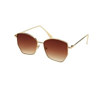 Blue Gem Sunglasses -Jade Collection gold/gradient brown lens