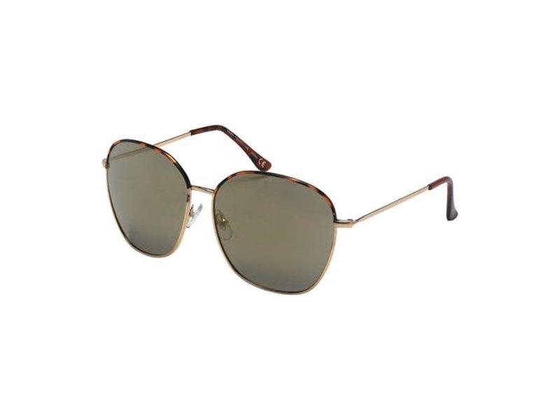 Blue Gem Sunglasses -Jade Collection tortoise/silver/flash mirror smoke
