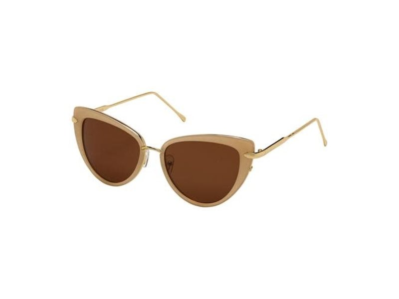 Blue Gem Sunglasses -Jade Collection Jelly beige/gold/brown