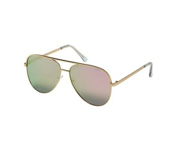 Blue Gem Sunglasses -Jade Collection Gold/clear tips/rose gold mirror
