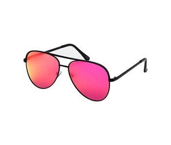 Blue Gem Sunglasses -Jade Collection -Black/black tips/hot pink