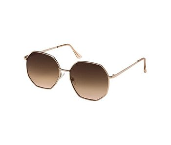 Blue Gem Sunglasses -Jade Collection -Gold/cry brown tips/brown to rose