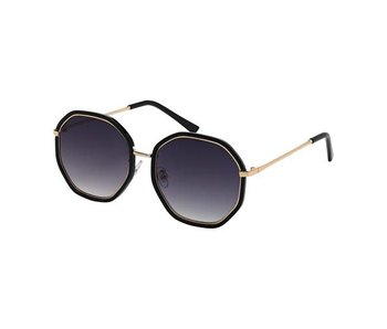 Blue Gem Sunglasses -Jade Collection -Black/gold/gradient grey