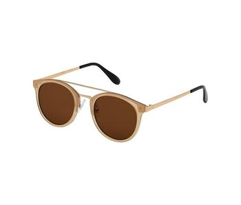Blue Gem Sunglasses -Jade Collection -Jelly beige/gold/brown