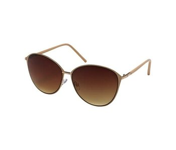 Blue Gem Sunglasses -Jade Collection -Beige/gold/gradient brown lens