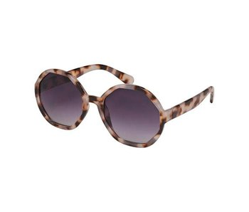 Blue Gem Sunglasses -Rose Collection -Milky brown tortoise octagon assortment