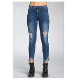 Elan Denim Hi Rise distressed jeans