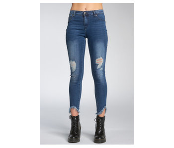 Elan Denim Hi Rise distressed jeans