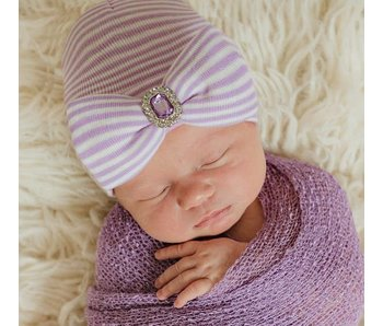 Nursery beanies -Lucy Lavender