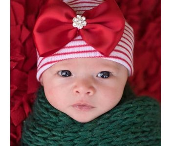Nursery beanies -Wrapped with a bow
