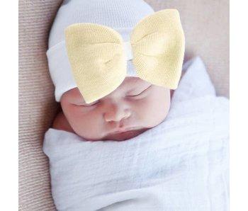 Nursery beanies -Sunshine bow