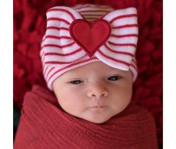Nursery beanies -Striped all my love