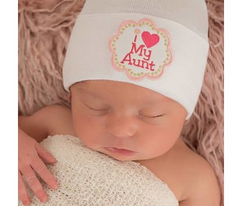 Nursery beanies -I love my Aunt
