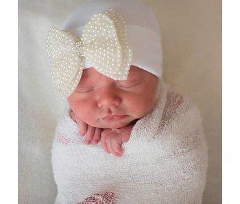 Nursery beanies -Pearl bow