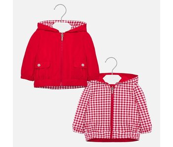 Mayoral Reversible Windbreaker Red Jacket baby girl