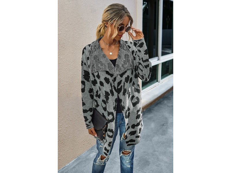 Mountain Valley Trading Leopard print cardigan