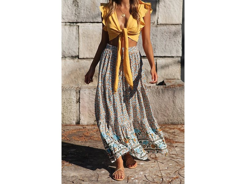 Mountain Valley Trading Long floral skirt
