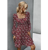 Mountain Valley Trading Square neckline long sleeve floral dress