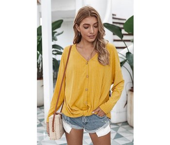 Mountain Valley Trading Long sleeve v-neck button down top