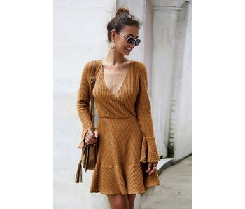 Mountain Valley Trading Long sleeve v-neck dress