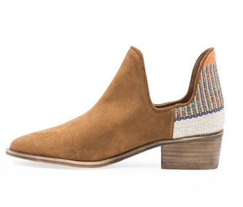 Charleston Shoe Co. Aiken bootie -brown/orange