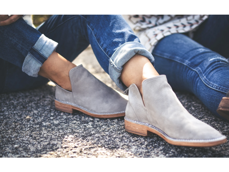 Charleston Shoe Co. Federal ultra soft suede bootie